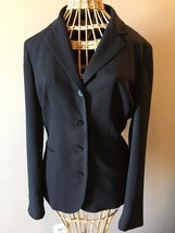 Evan Picone Black 4-Button Lined Polyester Blazer Career Jacket size 6 CR - $31.95
