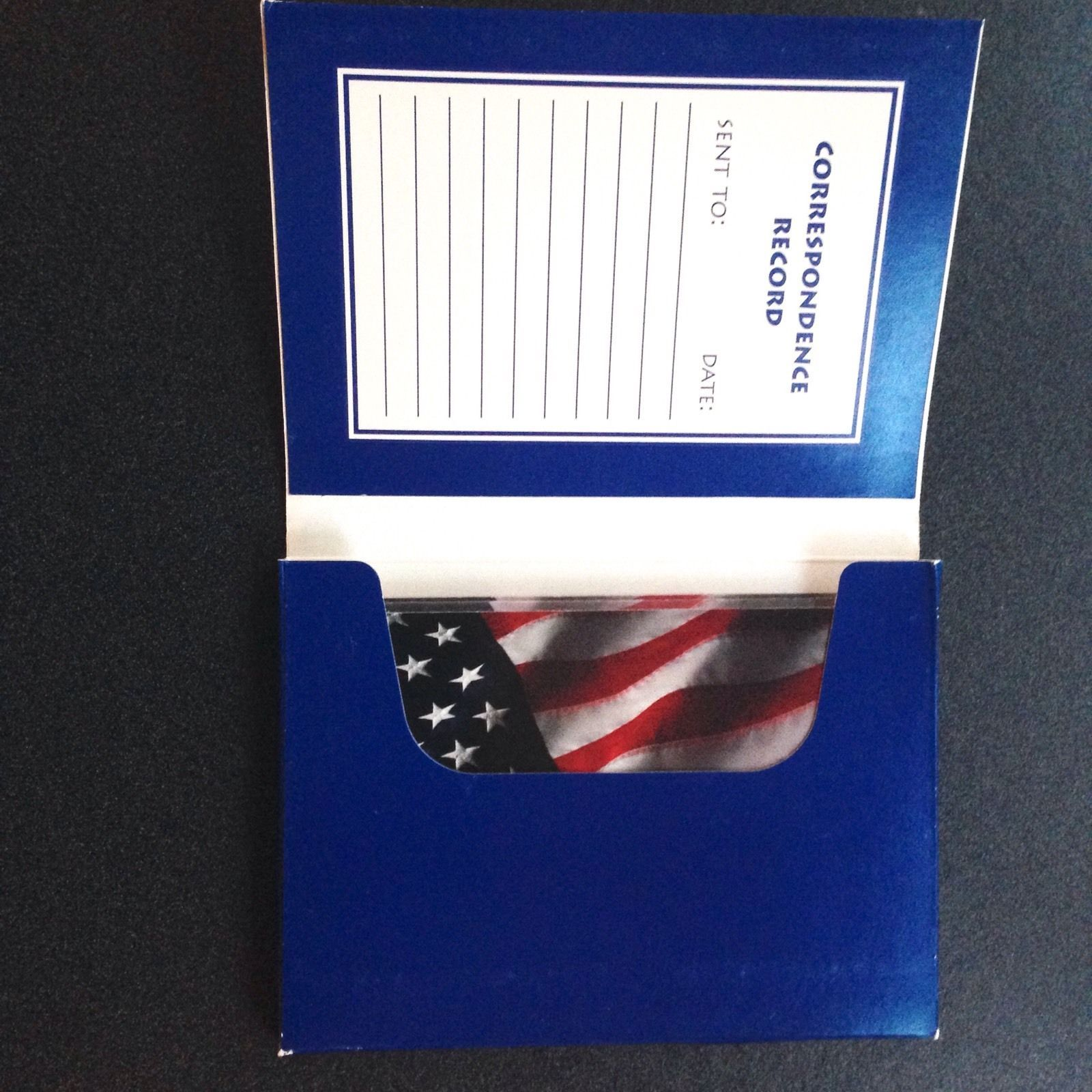 Note Card Folio Foil Accents American Flag Fourth July 4x6 USA New Stationary