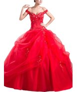 Albizia Pick Ups Appliques Ball Gown Tulle Off-... - $180.00