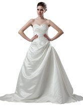 Albizia A-line Strapless Sleeveless Floor-length Chapel Beaded Wedding D... - $168.00