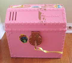 Fisher Price Plastic PINK Locking Trunk Case 1989 USA Made Vintage - $9.47