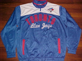 G 3 Carl Bank MLB AL East Toronto Blue Jays Blue Red Full Zipper Track Jacket L - $69.28