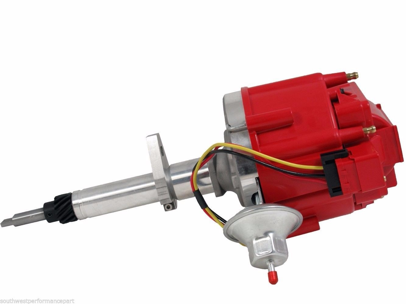 TSP HEI Distributor Early Chevy 65K Volts 194 216 235 Inline 6 Red Cap