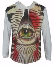 men hoodie long sleeve GEOMETRIC cotton PYRAMID EGYPT ILLUMINATI EYE OM ... - $23.99