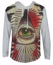 men hoodie long sleeve GEOMETRIC cotton PYRAMID EGYPT ILLUMINATI EYE OM ... - $27.99