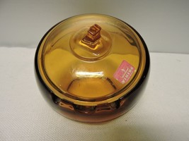 Viking Glass Acorn Shaped Ashtray with Lid - $75.00