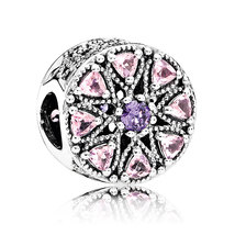 925 Sterling Silver Shimmering Medallion & Multi-Colored CZ Charm Bead Q... - €19,35 EUR