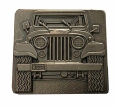 Vintage Jeep Wrangler Belt Buckle - Gear - Convertible 1970s 19802 Car l... - $27.00