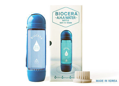 Biocera AHA(Alkaline-Hydrogen-Antioxidant) Water Bottle ALL IN ONE type hydrogen