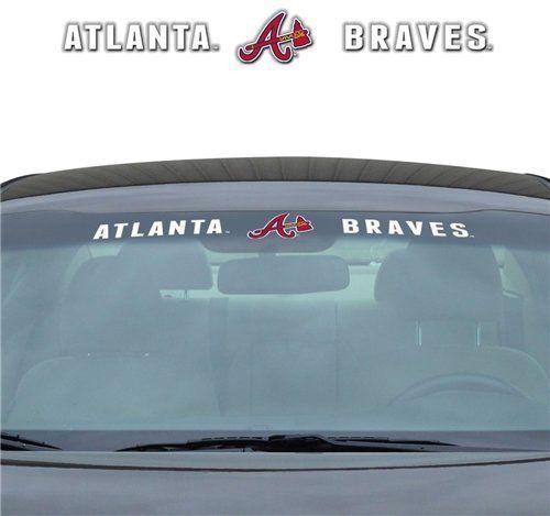 "ATLANTA BRAVES 35"" X 4"" WINDSHIELD WINDOW DECAL CAR TRUCK MLB BASEBALL"