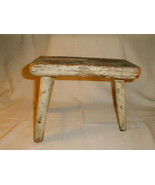 Milking stool antique early 1800s 3 led pegged eastern pa primitive awes... - $160.00