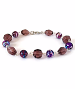 Purple Bead Links Bracelet for Ladies - $14.90