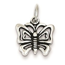 .925 Sterling Silver Antique Butterfly Charm Pe... - $20.11