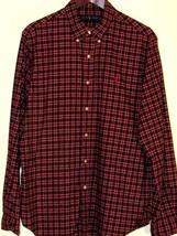 Men's Ralph Lauren Plaid Long Sleeve Shirt Polo No Pocket L 16 1/2 100% Cotton - $13.36