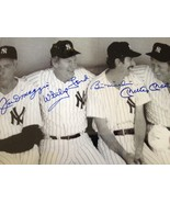 JOE DIMAGGIO, WHITEY FORD, BILLY MARTIN, & MICKEY MANTLE'S AUTOGRAPHED 8... - $991.34