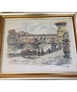 FANTASTIC ORIGINAL ETCHING ON PURE SILK SIGNED BY HANS FIGURA & FRAMED - $182.91