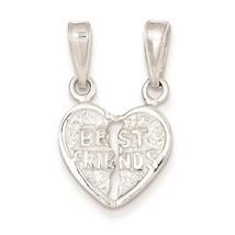 .925 Sterling Silver Best Friends 2 piece Break-apart Charm Pendant 17mm... - $13.99