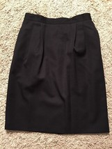 Women's Talbots Black 100% Wool Skirt W/ Lining, Size 12 - $31.99