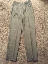 Women's Liz Claiborne Classics Black/White Woolmark Lined Wool Pants, Si... - $31.99