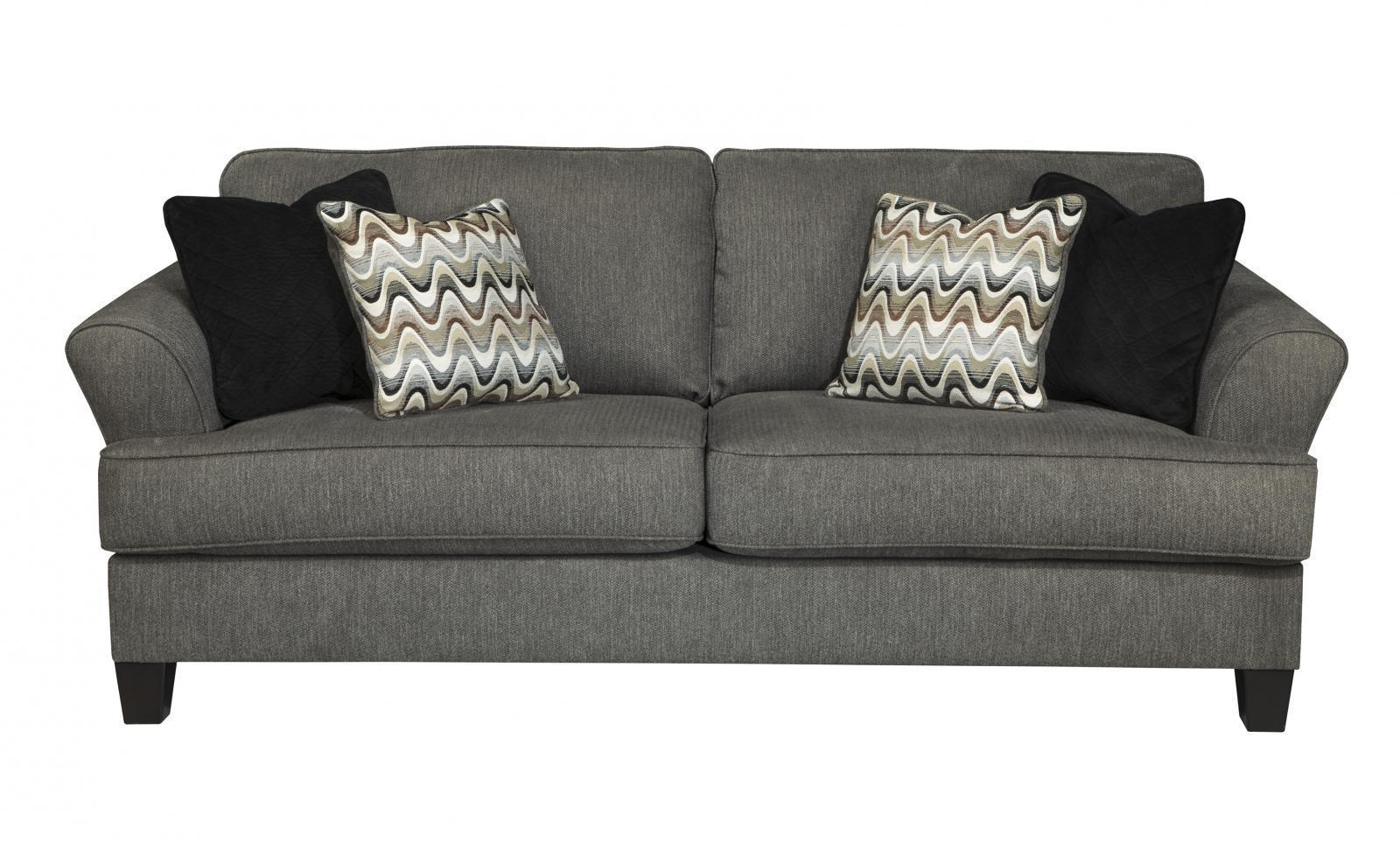 Ashley Gayler Living Room Set 3pcs in Steel Upholstery Fabric Contemporary Style
