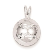 .925 Sterling Silver Diamond-Cut Polished Baseball Charm Pendant 13mm x ... - $17.10