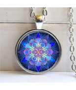 Mandala Pendant, Mandala Art Necklace Soothing ... - $11.50