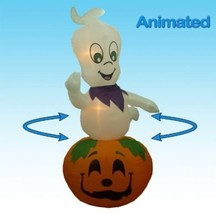 Halloween Pumpkin Ghost Decor Animated Halloween Inflatable 9 Foot Frie... - £122.19 GBP