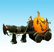 11.5 Foot Long Inflatable Grim Reaper Driving Pumpkin Carriage - $333.12 CAD