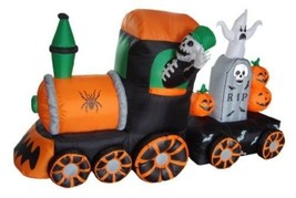 7 Foot Long Halloween Inflatable Light Up Skeletons on Train Yard Decor... - €163,97 EUR