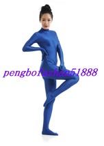 Lycra Spandex Zentai Sexy Blue Body Suit Catsuit Costumes Halloween Suit S038 - $32.99