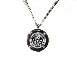 QP32G Dalimara Stainless Steel Magnetic Medusa Greek Key Necklace - $22.95