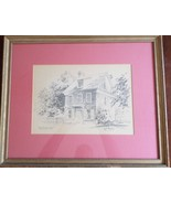 HISTORICAL VINTAGE LITHOGRAPH PRINT WILLIAM PENN HOUSE BY JAS.F.MURRAY - $20.98