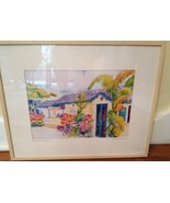 LOVELY WATERCOLOR PRINT BY LINDA HAYWOOD, SIGNED, LIMITED EDITION, & FRAMED - $27.00