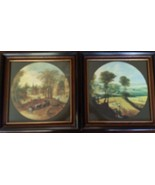 FABULOUS VINTAGE PAIR OF FOLK ART PRINTS IN FRAMES IN VG CONDITION. - $27.23