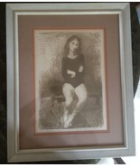 """WONDERFUL ORIGINAL LITHOGRAPH - ARTIST'S PROOF, SIGNED, """"SEATED BALLERIN... - $162.74"""