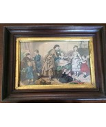 ANTIQUE PRINT REPRODUCTION OF AN 1872 ILLUSTRATION FRAMED - $27.00