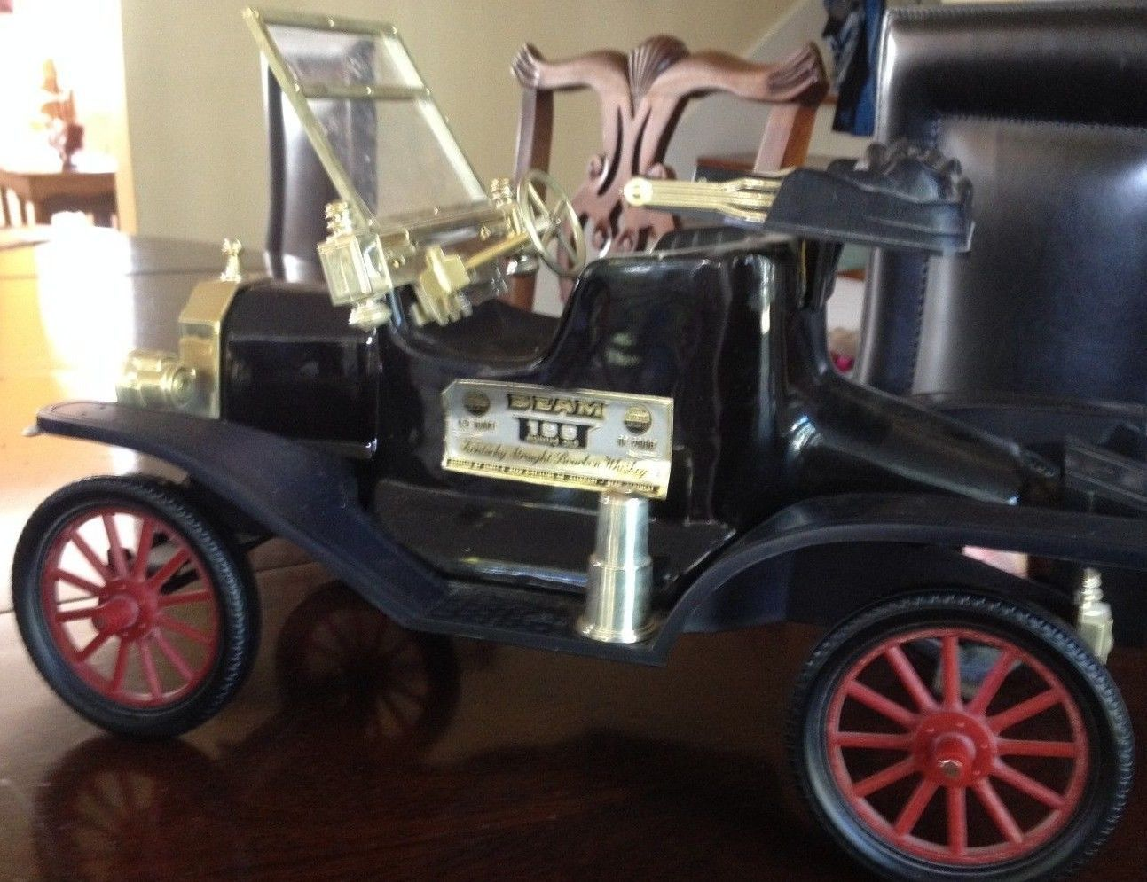 Antique Decanter Jim Beam Black Ford Model T Automobile