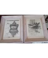 COLLECTIBLE PAIR OF R.H. PALENSKE FRAMED VINTAGE SEASCAPE PRINTS - $139.90