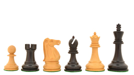 1972 Reproduced Fischer-Spassky Staunton ChessSet in Stained Dyed/Boxwood R0301 - $149.99