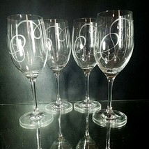 "4 (Four) VINTAGE MIKASA ""Love Story""  Lead Crystal Wine Glasses Goblets - $31.34"
