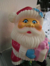 """SANTA CLAUS RUBBER SQUEEZE TOY with SQUEAKER VINTAGE 5 ¼"""" tall x 3 ½"""" - $9.49"""