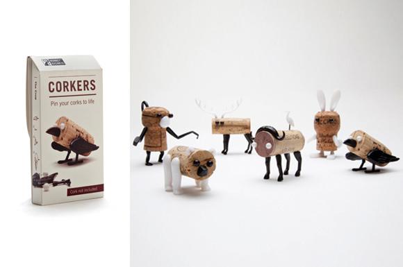 Gifts Wine bottle Corks Craft Puzzle Shelf Designed Funny Home Decorative Deer