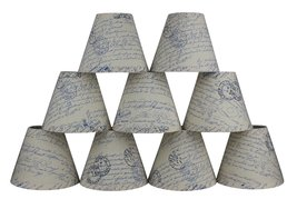 Urbanest Natural Linen 3-inch by 6-inch by 5-inch Linen Chanderlier Lamp... - $54.44