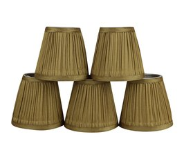 Urbanest Set of 5 Mushroom Pleated Chandelier Lamp Shade, 3-inch by 5-inch by 4. - $28.70