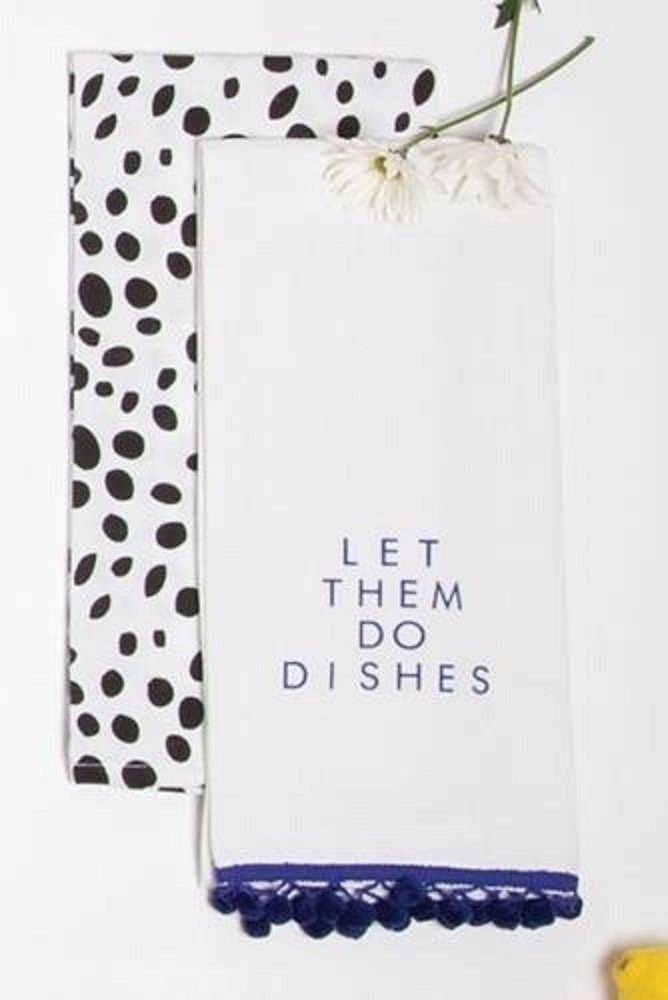 Set of Two Kitchen Towels Let Them Do Dishes