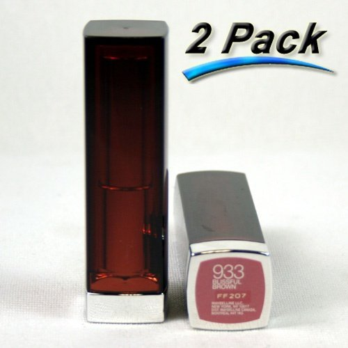 Primary image for Maybelline ColorSensational Lipstick 933 Blissful Brown - 2 Pack