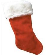 Big Plush Faux Fur Christmas Stockings - 4 pack Major Dept. Store issue - $10.84