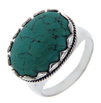 Solid Sterling Silver Turquoise Ring»R27 - £17.86 GBP