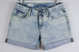 Gap 1969 Sexy Boyfriend Denim Jeans Shorts Rolled Up Hem Pipeline Wash Size 26 P - $19.58