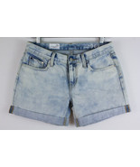 Gap 1969 Sexy Boyfriend Denim Jeans Shorts Rolled Up Hem Pipeline Wash S... - $19.58